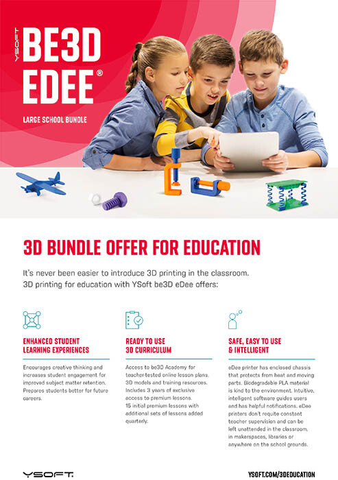 YSOFT BE3D EDEE EDU BUNDLE – LARGE SCHOOLS