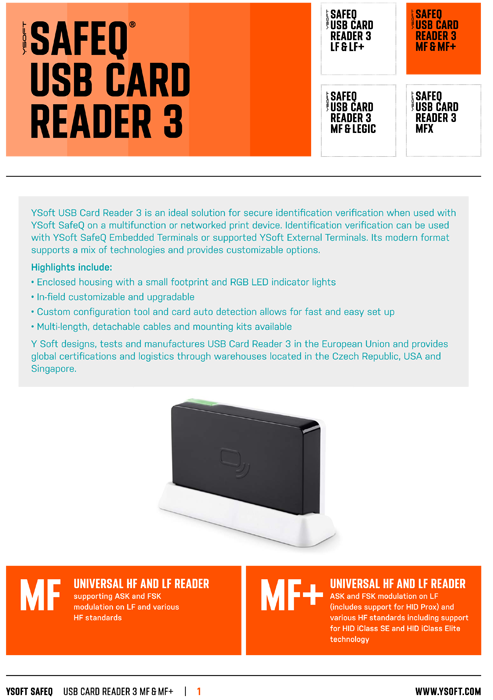 USB Card Reader 3 MF & MF+